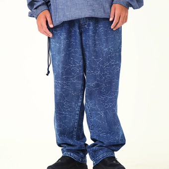 MASSES - DENIM CRACK PANTS