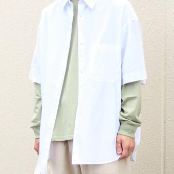 Broad Oversized S/S Regular Collar Shirt