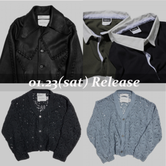 01.23(sat) Release / 21ss新作