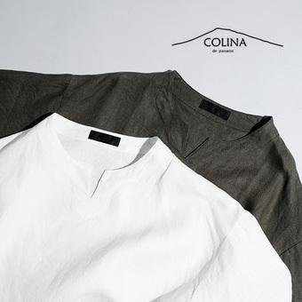 COLINA 新入荷 ボトルネックシャツ