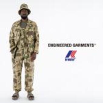 Engineered Garments×K-WAYのパッカブルシリーズ