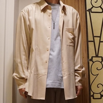 【AURALEE】 新作のシャツ。