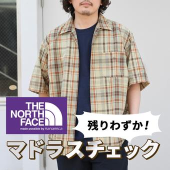 <THE NORTH FACE PURPLE LABE>マドラスチェックシャツ残りわずか!