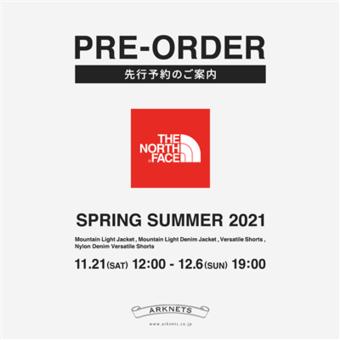 【THE NORTH FACE】2021春夏 ウェブ先行予約開催中