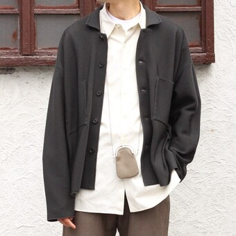 KNIT SHIRT JACKET / YOKE