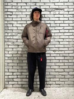 DENIM GALAXY南堀江店のかんたさんのALPHAの【期間限定10%OFF】THERMOLITE パフジャケットを使ったコーディネート