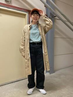 ららぽーと横浜のAyanaさんのLeeのロコワンピースを使ったコーディネート