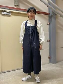 ららぽーと横浜のAyanaさんのLeeのパフスリーブ カットソーを使ったコーディネート