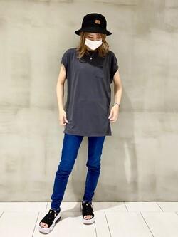アミュプラザおおいた店のSHOPANさんのLeeの【ガレージセール】フレンチスリーブ Tシャツを使ったコーディネート