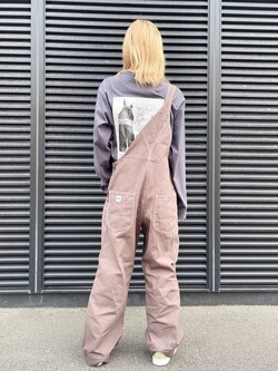 アミュプラザおおいた店のSHOPANさんのLeeの【ユニセックス】バックプリント 長袖Tシャツを使ったコーディネート