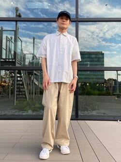 アミュプラザ熊本店のhironoriさんのLeeの【予約】【XSからXXLまでを1サイズでカバーする】FLeeasy イージーパンツ【6月下旬頃発送予定】を使ったコーディネート