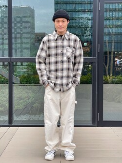 アミュプラザ熊本店のhironoriさんのLeeのチェック柄 長袖シャツを使ったコーディネート