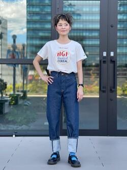 アミュプラザ熊本店のYUUKOさんのLeeの【SALE】【本格的なビンテージ】ロールアップ デニムパンツを使ったコーディネート