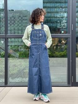 アミュプラザ熊本店のYUUKOさんのLeeの【15%OFFクーポン対象】オーバーオール スカートを使ったコーディネート