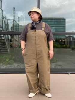 アミュプラザ熊本店のkazukiさんのLeeの【Lee×GRAMICCI(グラミチ)】オーバーオールを使ったコーディネート