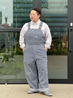 アミュプラザ熊本店のkazukiさんのLeeの【15%OFFクーポン対象】【ユニセックス】LOW-BACK オーバーオールを使ったコーディネート