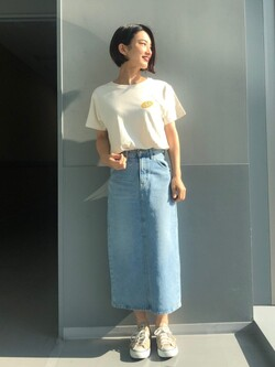 Lee アミュプラザ博多店のYurieさんのLeeの【試着対象】STANDARD WARDROBE スカートを使ったコーディネート