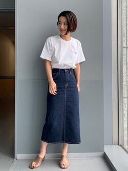 Lee アミュプラザ博多店のYurieさんのLeeの【再値下げSALE】バックプリント 半袖Tシャツを使ったコーディネート