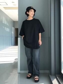 Lee アミュプラザ博多店のYurieさんのLeeの【otonaMUSE掲載】【毎日履きたい】ボーイズストレートパンツを使ったコーディネート