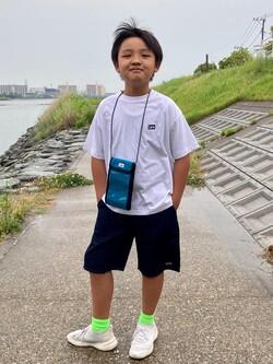 Lee アミュプラザ博多店のMarikoさんのLeeの【SALE】キッズ バックプリント 半袖Tシャツ【110-150cm】を使ったコーディネート