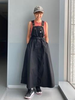 Lee アミュプラザ博多店のMarikoさんのLeeの終了【Lee×GRAMICCI(グラミチ)】オーバーオール スカートを使ったコーディネート