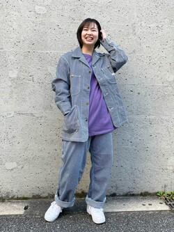 Lee アミュプラザ博多店のたまちゃんさんのLeeのカバーオールジャケットを使ったコーディネート
