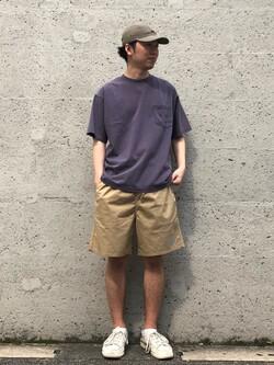 Lee アミュプラザ博多店のTaigaさんのLeeの【ユニセックス】バッグロゴ 半袖Tシャツを使ったコーディネート