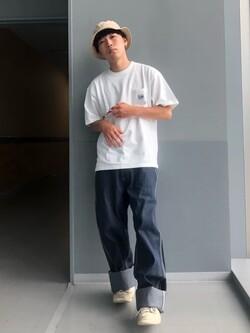 Lee アミュプラザ博多店のTaigaさんのLeeの【SALE】ポケット付き 半袖Tシャツを使ったコーディネート