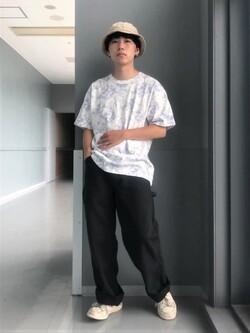 Lee アミュプラザ博多店のTaigaさんのLeeの終了【SALE】タイダイ柄 半袖Tシャツを使ったコーディネート