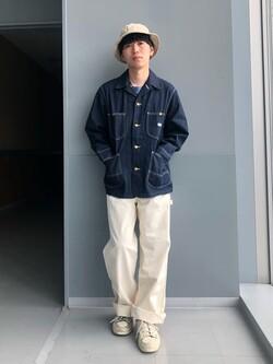 Lee アミュプラザ博多店のTaigaさんのLeeのカバーオールジャケットを使ったコーディネート
