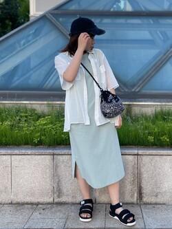 札幌パセオ店のPinanchosuさんのLeeの【ガレージセール】【直営店・WEB限定】フレンチスリーブ マキシドレスを使ったコーディネート