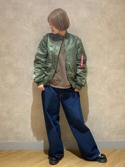 錦糸町PARCO店のKaeさんのALPHAのL-2B フライトナイロンジャケットを使ったコーディネート