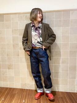 有楽町マルイ店のKaeさんのEDWINのデニスラ テーラードジャケットを使ったコーディネート