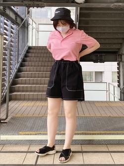 DENIM GALAXY日暮里店ののんさんのSOMETHINGのSOMETHING TOKYO SOME GIRLS バケットハットを使ったコーディネート