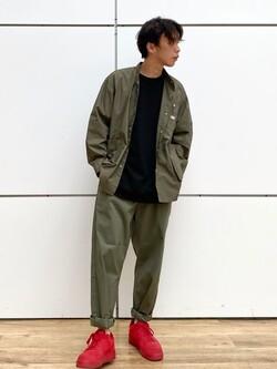 エスパル仙台店のすがきよさんのLeeの【SALE】【直営店・WEB限定】ビッグポケット シャツジャケットを使ったコーディネート