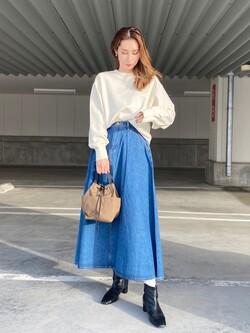 エスパル仙台店のeriさんのLeeの【再値下げ Winter sale】マキシスカートを使ったコーディネート