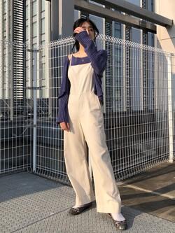 エスパル仙台店のhikaruさんのLeeの【直営店/WEB限定カラー】リラックスサロペットを使ったコーディネート