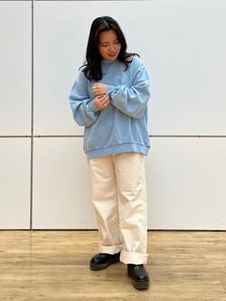 エスパル仙台店のnanakoさんのLeeの【ユニセックス】DUNGAREES ペインターパンツを使ったコーディネート