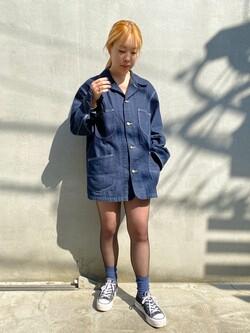 原宿店のAKIさんのLeeのカバーオールジャケットを使ったコーディネート