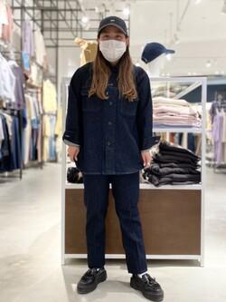 西宮ガーデンズ店のanさんのLeeの【SPRING SALE】【セットアップ対応】シャツジャケットを使ったコーディネート