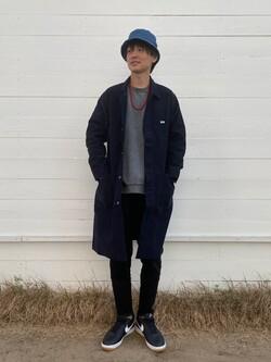 原宿店のYoshitakaさんのLeeの【直営店・WEB限定】サービスコートを使ったコーディネート