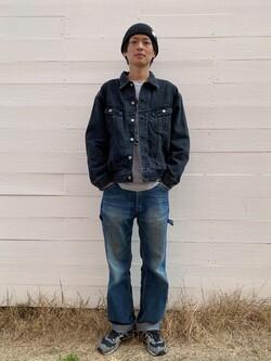 原宿店のYoshitakaさんのLeeのBLACK RIDERS デニムジャケットを使ったコーディネート