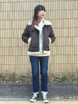 錦糸町PARCO店のmikiさんのの【Winter sale】B-3 フェイクムートン レディースを使ったコーディネート