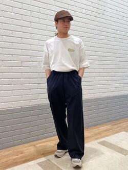 エスパル仙台店のRyuさんのLeeの【Pipes】プリント半袖Tシャツを使ったコーディネート