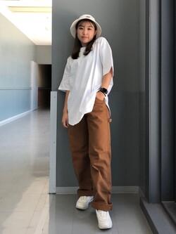 Lee アミュプラザ博多店のNanamiさんのLeeの終了【SALE】ラウンドヘム 半袖Tシャツを使ったコーディネート