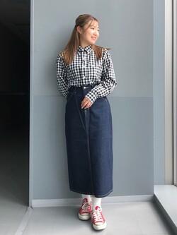 Lee アミュプラザ博多店のNanamiさんのLeeのSTANDARD WARDROBE スカートを使ったコーディネート