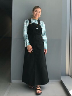 Lee アミュプラザ博多店のNanamiさんのLeeの【15%OFFクーポン対象】オーバーオール スカートを使ったコーディネート
