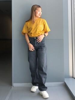 Lee アミュプラザ博多店のNanamiさんのLeeの【otonaMUSE掲載】【毎日履きたい】ボーイズストレートパンツを使ったコーディネート