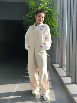 Lee アミュプラザ博多店のNanamiさんのLeeのラウンドカラー 長袖シャツを使ったコーディネート
