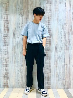 Lee 名古屋店のKazumaさんのLeeの【Lee×GRAMICCI(グラミチ)】バックプリント 半袖Tシャツを使ったコーディネート